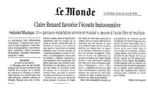 La-Musique des mémoires Claire Renard